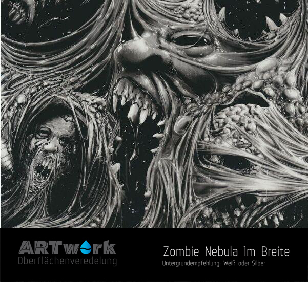 artwork zombie nebula 1m breite wassertransferdruck folie. Black Bedroom Furniture Sets. Home Design Ideas