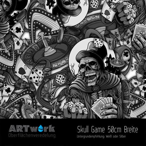 wtd folie skull game 50cm breite. Black Bedroom Furniture Sets. Home Design Ideas