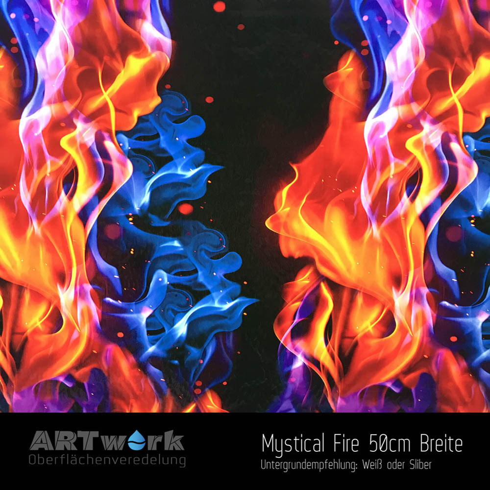 mystical fire 50cm breite wassertransferdruckfolie artwork. Black Bedroom Furniture Sets. Home Design Ideas