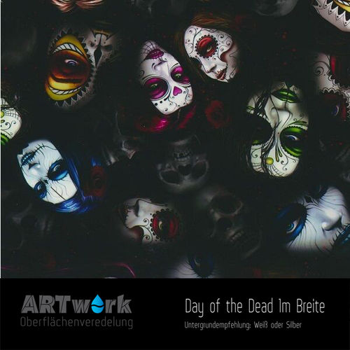WTD Folie Day of the Dead 1m Breite