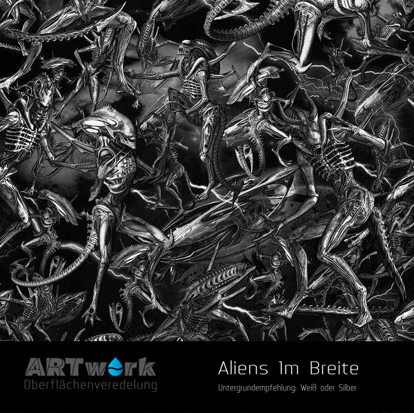 alien 1m breite wassertransferdruckfolie artwork. Black Bedroom Furniture Sets. Home Design Ideas