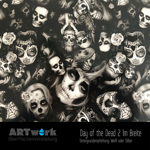 WTD Folie Day of the Dead 2 1m Breite
