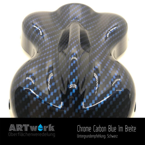 WTD Folie Chrome Carbon Blue 1m Breite