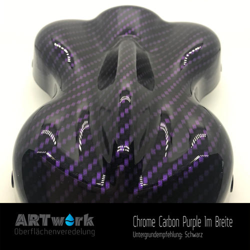 WTD Folie Chrome Carbon Purple 1m Breite