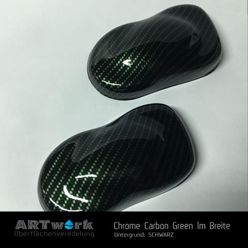 WTD Folie Chrome Carbon Green 1m Breite