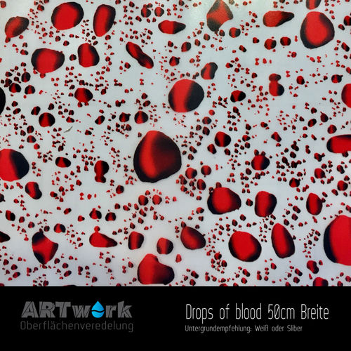 WTD Folie Drops of blood 50cm Breite