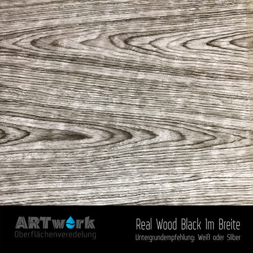 WTD Folie Real Wood Black 1m Breite